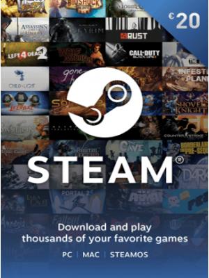 Steam 20 euron lahjakortti (digitaalinen toimitus)