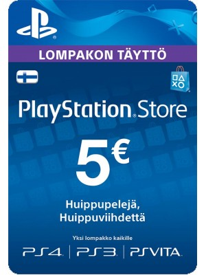PlayStation Network PSN Card 5 € (digitaalinen toimitus)