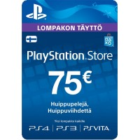 PlayStation Network PSN Card 75€ (digitaalinen toimitus)