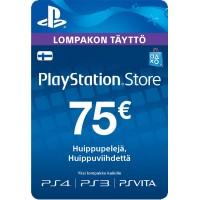PlayStation Network PSN Card 75€ (digitaalinen toimitus)
