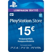 PlayStation Network PSN Card 15€ (digitaalinen toimitus)