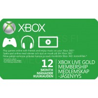 Xbox Live Gold 12 kk (digitaalinen toimitus)