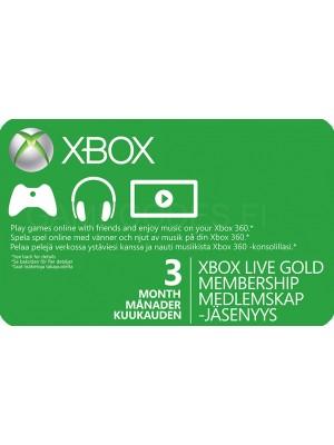 Xbox Live Gold 3 kk (digitaalinen toimitus)