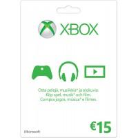 Xbox Live 15 Euron lahjakortti (digitaalinen toimitus)