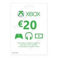 Xbox Live 20 Euron lahjakortti (digitaalinen toimitus)