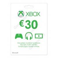 Xbox Live 30 Euron lahjakortti (digitaalinen toimitus)