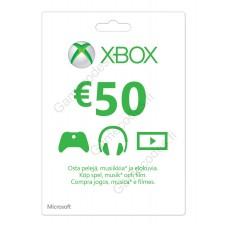 Xbox Live 50 Euron lahjakortti (digitaalinen toimitus)