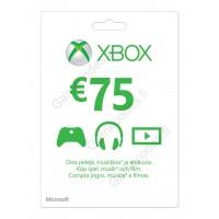 Xbox Live 75 Euron lahjakortti (digitaalinen toimitus)
