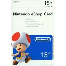 Nintendo eShop 15 Euron lahjakortti (digitaalinen toimitus)
