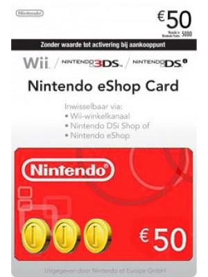Nintendo eShop 50 Euron lahjakortti (digitaalinen toimitus)