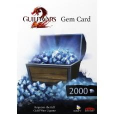 Guild Wars 2 2000 Gem Card (sähköpostiin)