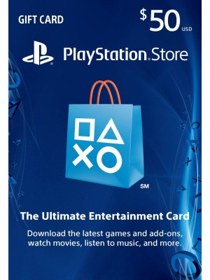 PlayStation Network USA PSN Card 50 dollaria (digitaalinen toimitus)