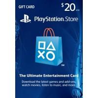 PlayStation Network USA PSN Card 20 dollaria (digitaalinen toimitus)