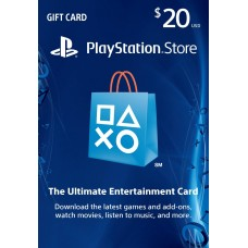 PlayStation Network USA PSN Card 20 dollaria (digitaalinen toimitus)