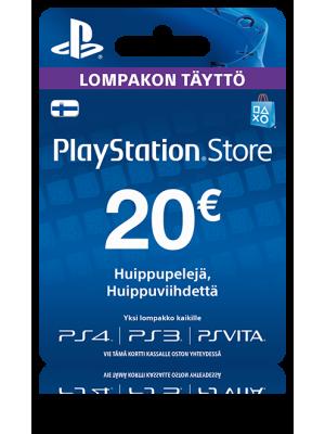 PlayStation Network PSN Card 20€ (digitaalinen toimitus)
