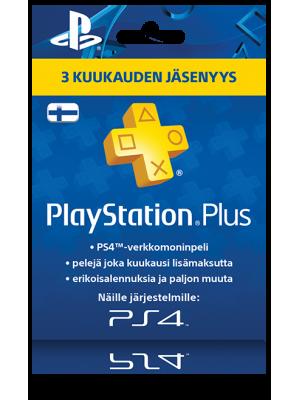 PlayStation Network PSN Plus 3 kk (digitaalinen toimitus)
